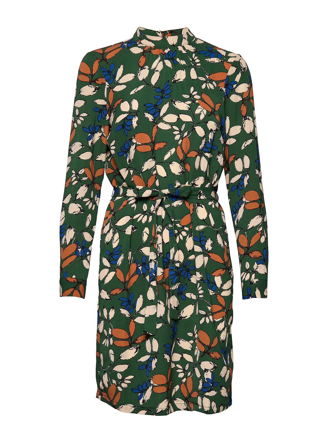 ONLY ONLNOVA LUX AOP HIGHNECK BELT DRESS 8 - PINENEEDLE
