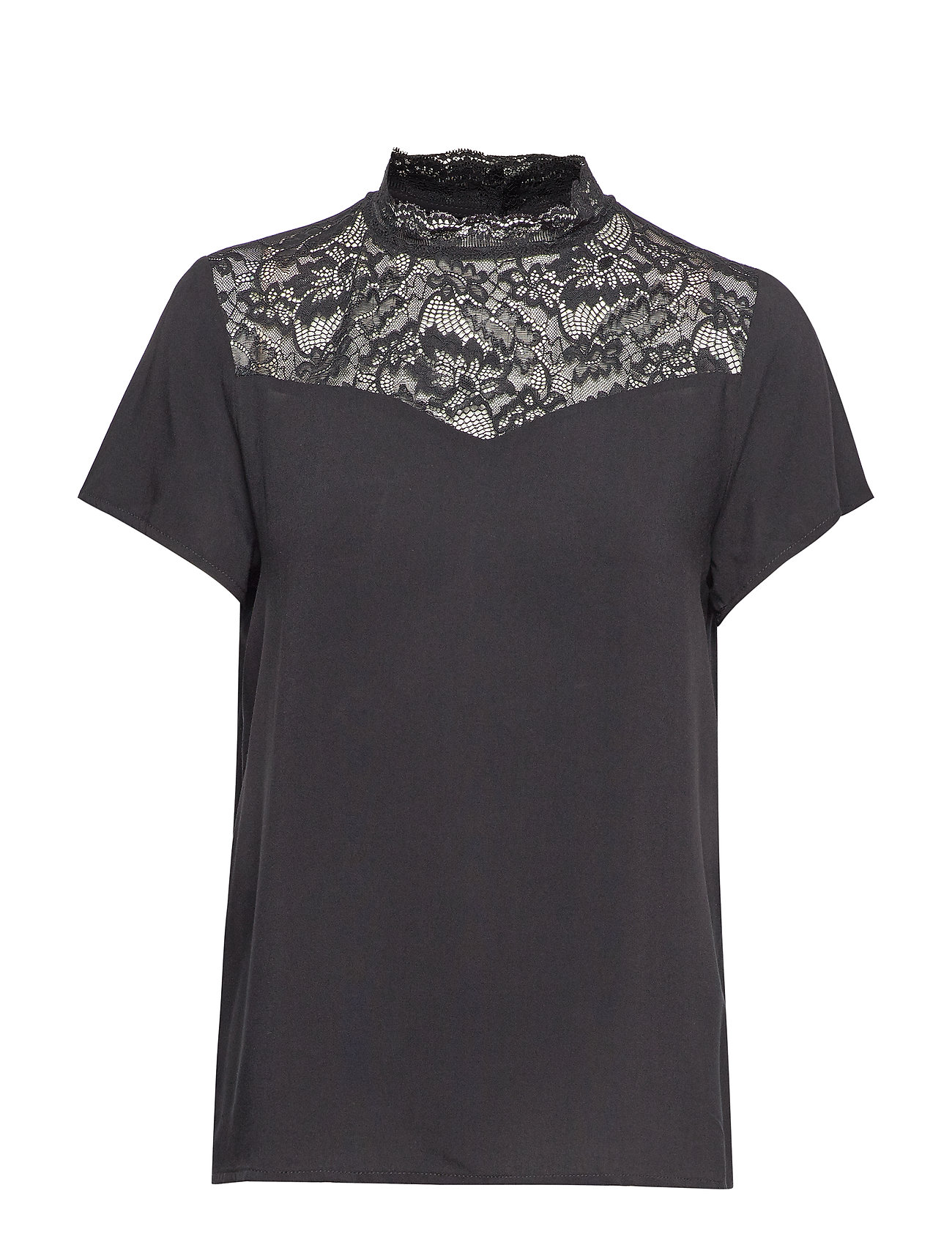 ONLY ONLFIRST SS LACE TOP NOOS WVN - BLACK