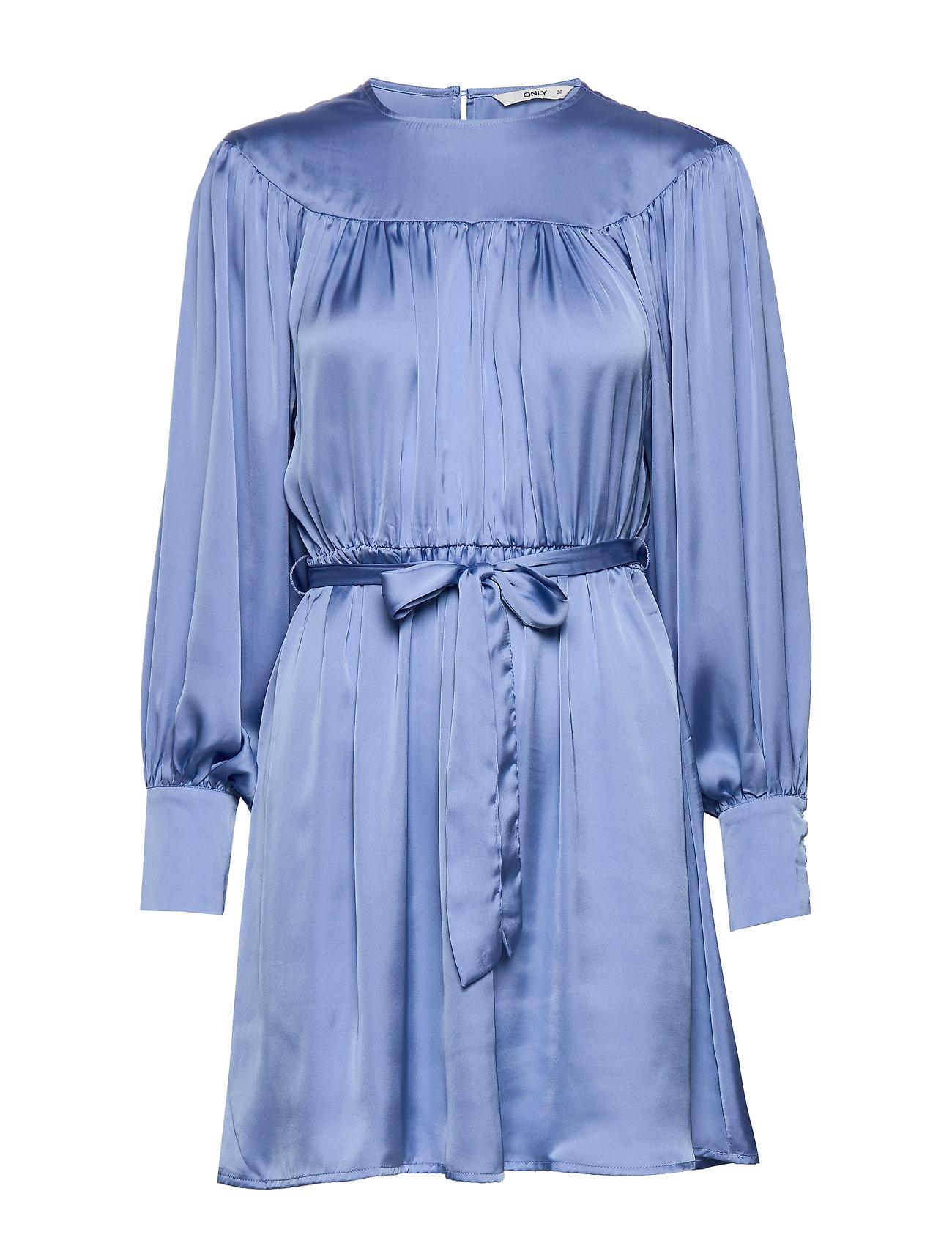 ONLY ONLCASSY L/S SHORT DRESS WVN - BEL AIR BLUE