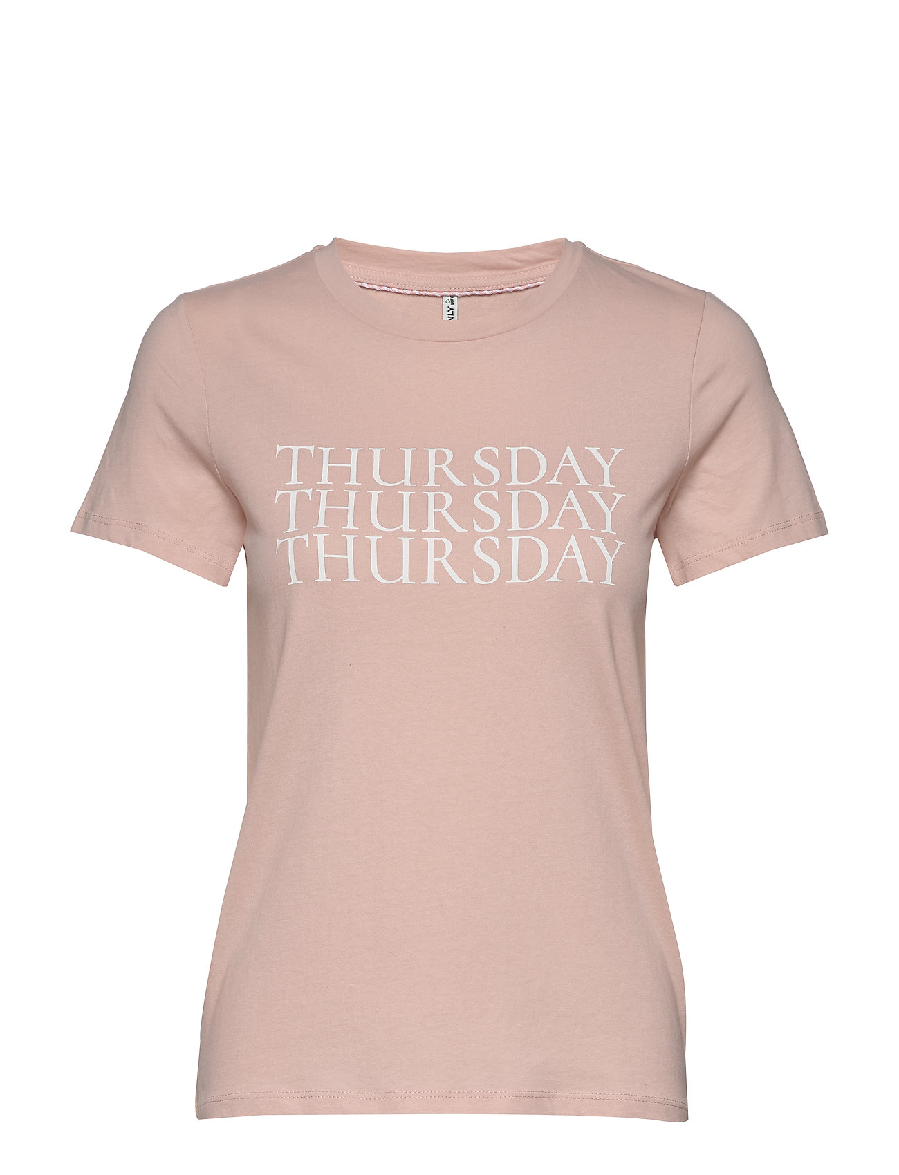 Image of Onlweekday Life Reg S/S Top Box Co Jrs T-shirt Top Lyserød ONLY (3339884299)