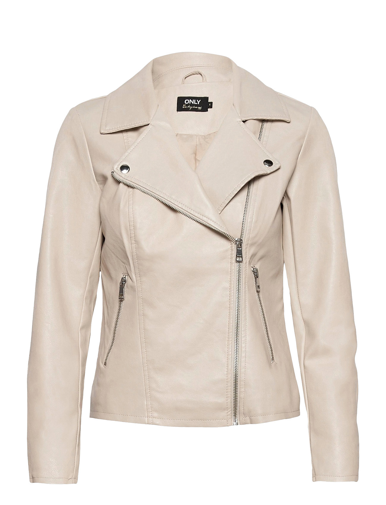 Image of Onlmelisa Faux Leather Biker Cc Otw Læderjakke Skindjakke Grå ONLY (3492736277)