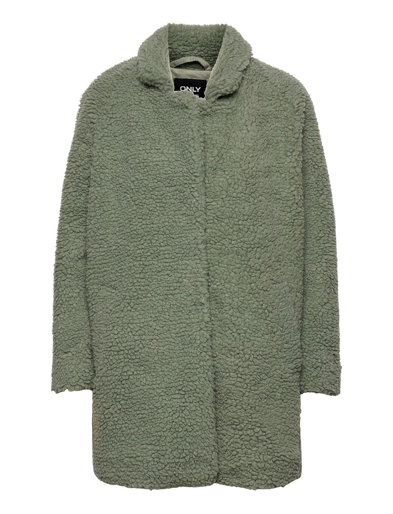 Onlaurelia Sherpa Coat Otw Outerwear Faux Fur Grøn ONLY