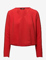 ONLY - onlLECO ODESSA L/S CARDIGAN JRS NOOS - vestes tailleur - flame scarlet - 0