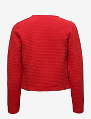 ONLY - onlLECO ODESSA L/S CARDIGAN JRS NOOS - vestes tailleur - flame scarlet - 1