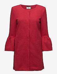 ONLY - onlSIA FRILL LIGHT MELANGE COAT CC OTW - cienkie płaszcze - jester red - 0