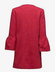 ONLY - onlSIA FRILL LIGHT MELANGE COAT CC OTW - cienkie płaszcze - jester red - 1