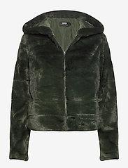 ONLY - ONLCHRIS FUR  HOODED JACKET OTW - faux fur - rosin - 0