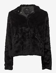 ONLY - onlVIDA FAUX FUR JACKET OTW - faux fur - black - 0