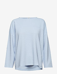ONLY - onlLECO MAISE L/S ZIP TOP JRS - long sleeved blouses - cashmere blue - 0