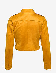 ONLY - ONLSHERRY CROP  BONDED BIKER CC OTW - lichte jassen - golden yellow - 2