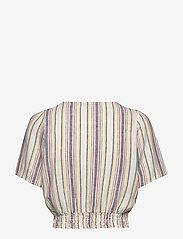 ONLY - ONLALFINA S/S CROPPED TOP WVN - short-sleeved blouses - cloud dancer - 1