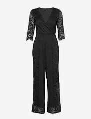 ONLY - ONLEDITH 3/4 WRAP JUMPSUIT JRS - jumpsuits - black - 0