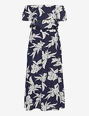 ONLY - ONLALMA LIFE POLY OFF-SHOULDER DRESS AOP - maxi dresses - night sky - 1