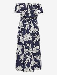 ONLY - ONLALMA LIFE POLY OFF-SHOULDER DRESS AOP - maxi dresses - night sky - 3