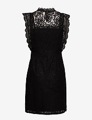 ONLY - ONLKARO S/L LACE ABOVE KNEE DRESS WVN - short dresses - black - 1