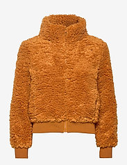 ONLY - ONLELLIE SHERPA BOMBER JACKET CC OTW - faux fur - cathay spice - 1
