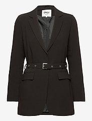 ONLY - ONLELITA-VESTA L/S BELT BLAZER TLR - casual blazers - black - 0