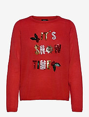 ONLY - ONLXMAS JOLLY L/S PULLOVER KNT - gensere - high risk red - 0