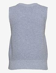 ONLY - ONLPARIS LIFE VEST KNT - knitted vests - cashmere blue - 1