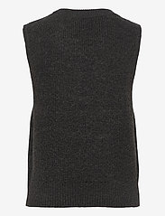 ONLY - ONLPARIS LIFE VEST KNT - knitted vests - dark grey melange - 1