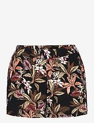 ONLY - ONLNOVA LUX  SHORTS AOP WVN 7 - shorts casual - black - 0