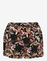 ONLY - ONLNOVA LUX  SHORTS AOP WVN 7 - shorts casual - black - 1