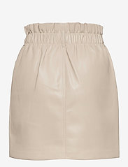 ONLY - ONLMILLIE-MIRI PB FAUX LEATHER SKIRT PNT - korta kjolar - pumice stone - 1