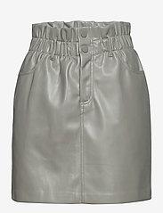ONLY - ONLMILLIE-MIRI PB FAUX LEATHER SKIRT PNT - korta kjolar - shadow - 0