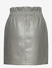 ONLY - ONLMILLIE-MIRI PB FAUX LEATHER SKIRT PNT - korta kjolar - shadow - 1
