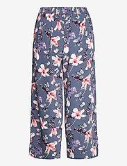 ONLY - ONLNOVA LUX CROP PALAZZO PANT AOP WVN 3 - bukser med brede ben - vintage indigo - 1