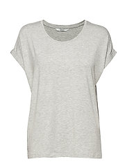 ONLMOSTER S/S O-NECK TOP NOOS JRS - LIGHT GREY MELANGE