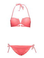 onpKELIS BANDEAU BIKINI TROPICAL FIT - HOT PINK