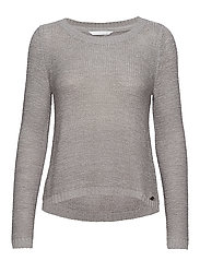 ONLGEENA XO L/S PULLOVER KNT NOOS - SILVER