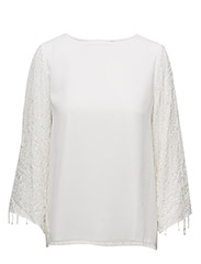 stuRISA 7/8 EMBELLISHMENT TOP - MARSHMALLOW