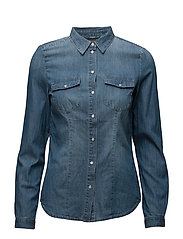 onlROCK IT FIT MB DNM SHIRT BJ7887 NOOS - MEDIUM BLUE DENIM