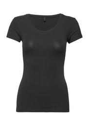 onlLIVE LOVE NEW SS O-NECK TOP NOOS - BLACK