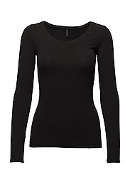 onlLIVE LOVE NEW LS O-NECK TOP NOOS - BLACK