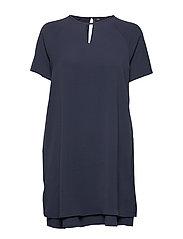onlMARIANA MYRINA S/S DRESS NOOS WVN - NIGHT SKY
