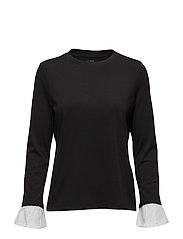onlCALLY L/S TOP JRS - BLACK