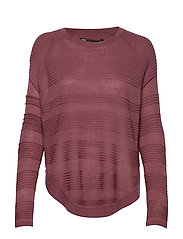 ONLCAVIAR L/S PULLOVER KNT NOOS - WILD GINGER