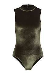 onlDEE VELVET HIGH NECK BODY ACC - GREEN GABLES