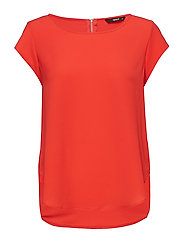 ONLVIC S/S SOLID TOP NOOS WVN - HIGH RISK RED