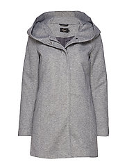 ONLSEDONA LIGHT COAT OTW NOOS - LIGHT GREY MELANGE