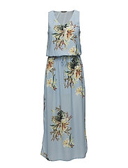 onlCARLA S/L LONG DRESS WVN - CHAMBRAY BLUE