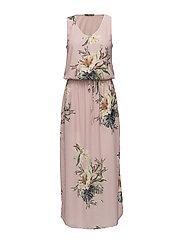 onlCARLA S/L LONG DRESS WVN - ROSE SMOKE