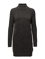 onlMEREDITH HIGHNECK L/S DRESS KNT NOOS - DARK GREY MELANGE