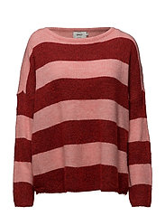 onlJULIANA L/S PULLOVER KNT - STRAWBERRY ICE