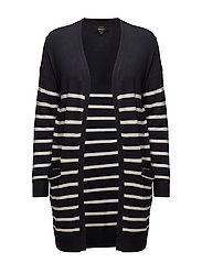 onlMILA STRIPE L/S LONG CARDIGAN KNT - NIGHT SKY
