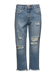 onlCHAD HW STRAIGHT CROP E DNM JEAN CRY - LIGHT BLUE DENIM