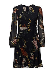 onlEMMA L/S SHORT DRESS WVN - NIGHT SKY